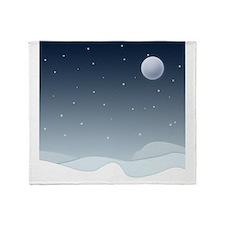 Winter Scene Throw Blanket