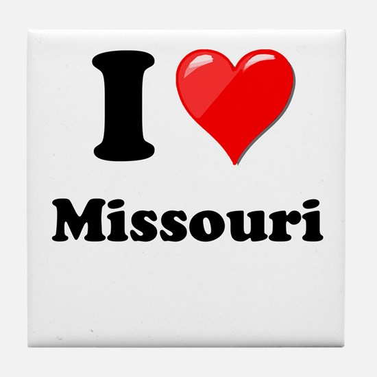 I Love Missouri Tile Coaster