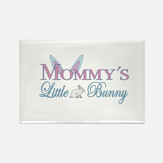 Mommy's Little Bunny Rectangle Magnet