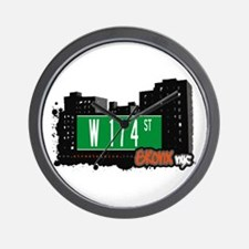 W 174 St, Bronx, NYC Wall Clock