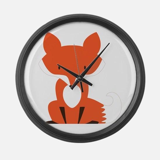 Fox Large Wall Clock