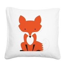Fox Square Canvas Pillow