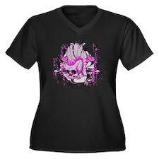 Rebellious Women's Plus Size Dark V-Neck T-Shirt