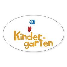 Peace, Love, Kindergarten Decal