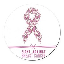 Join the Fight Against Breast Can Round Car Magnet
