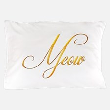 Meow Word Golden Design 1 Pillow Case