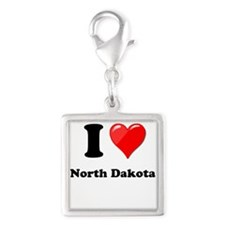I Love North Dakota Charms