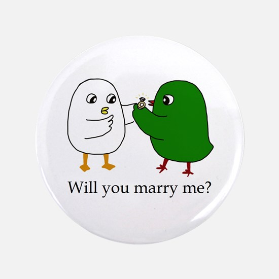 """Will You Marry Me? 3.5"""" 3.5"""" Button"""