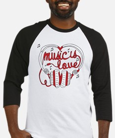 Music Is Love Is Music Is Love Baseball Jersey