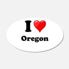 I Love Oregon Wall Decal