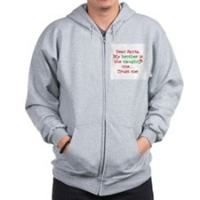 Dear Santa My Brother Zip Hoodie