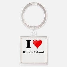 I Love Rhode Island Keychains