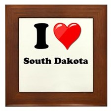 I Love South Dakota Framed Tile