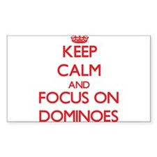 Keep calm and focus on Dominoes Decal
