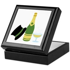 New Years Champagne Keepsake Box