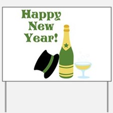 Happy New Year! Yard Sign