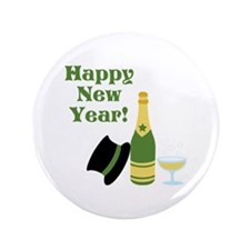 """Happy New Year! 3.5"""" Button (100 pack)"""