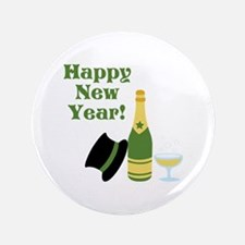 """Happy New Year! 3.5"""" Button"""