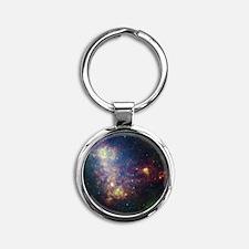 Space Round Keychain