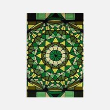 Stained Glass Geo Labyrinth Rectangle Magnet