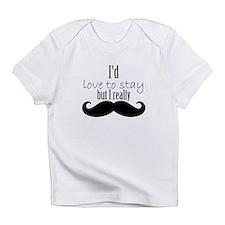 Cute Mustache girls Infant T-Shirt
