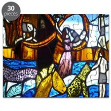 Infinity Stained Glass Panel - Life Marches Puzzle