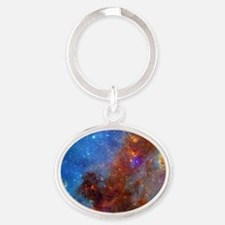 Space Oval Keychain
