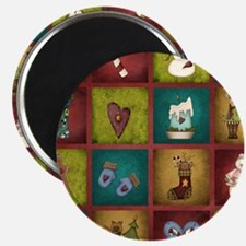 CHRISTMAS CRAZY QUILT Magnet