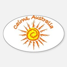 Cairns, Australia Oval Decal