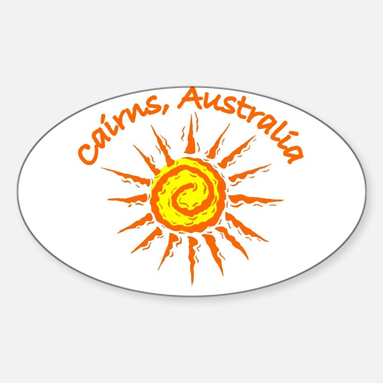Cairns, Australia Oval Decal