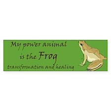 power animal (frog) Bumper Bumper Sticker