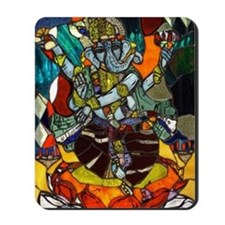 Stained Glass Ganesh Mousepad