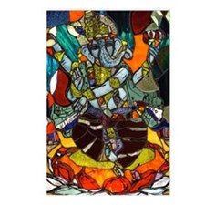 Stained Glass Ganesh Postcards (Package of 8)