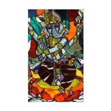 Stained Glass Ganesh Decal