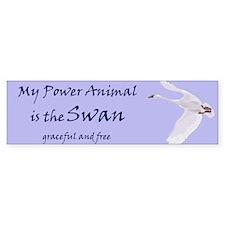 Power Animal (swan) Bumper Bumper Sticker