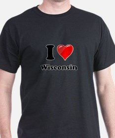 I Heart Love Wisconsin T-Shirt