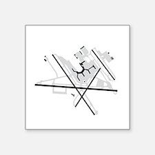 """BWI Baltimore/Washington In Square Sticker 3"""" x 3"""""""