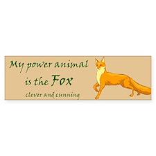 Power animal (fox) Bumper Bumper Sticker