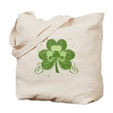 Swirly Shamrock Tote Bag
