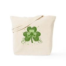 Swirly Shamrock Tote Bag