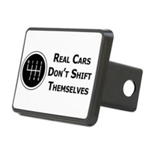 Real Cars Don't Shift Themselves Hitch Cover