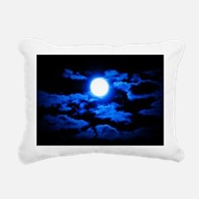 Once, In a Blue Moon Rectangular Canvas Pillow