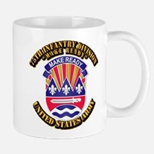 DUI - 75th Infantry Division w Text Mug