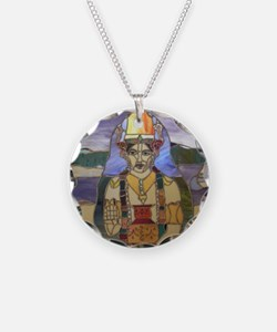 Stained Glass Dhanvantari Necklace