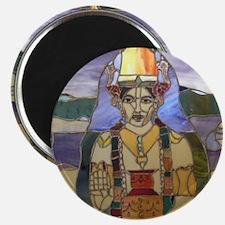 Stained Glass Dhanvantari Magnet