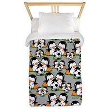 Soccer Penguins Twin Duvet