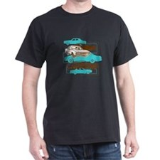 P76 brown and turquoise T-Shirt