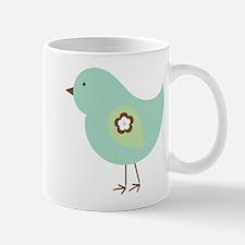 Cute Little Green Birdie 2 Mugs