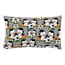 Soceer Penguins Pillow Case
