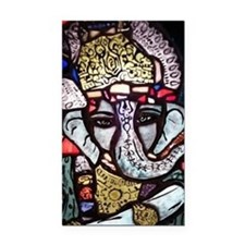 Ganesh Stained Glass Panel Rectangle Car Magnet